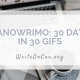 NaNoWriMo: 30 Days in 30 GIFs