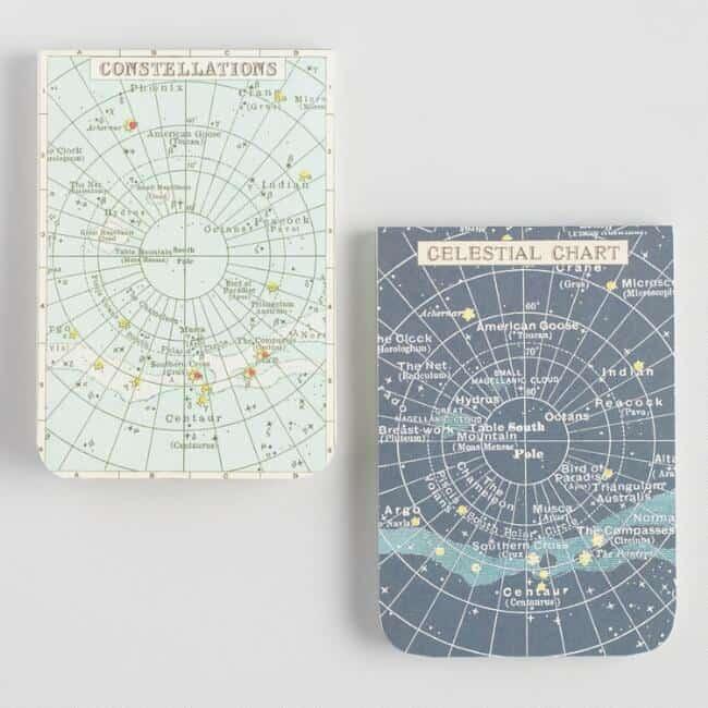 Celestial Pocket Journals Set Of 2