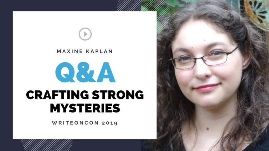 LIVE Q&A: Crafting Strong Mysteries