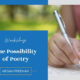 Workshop: The Possibility of Poetry: Considering Verse in MG and YA Fiction